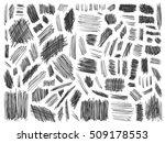 scribble doodle vector. big set ... | Shutterstock .eps vector #509178553