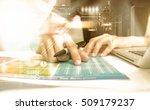 business women recheck or... | Shutterstock . vector #509179237