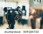 television camera recording... | Shutterstock . vector #509184733