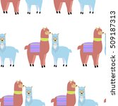 seamless pattern with lamas and ...   Shutterstock .eps vector #509187313