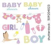 baby shower set. vector...