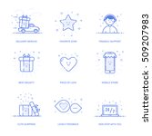 vector illustration of icons... | Shutterstock .eps vector #509207983