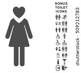 mistress icon and bonus man and ... | Shutterstock .eps vector #509212783