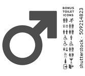male symbol icon and bonus man... | Shutterstock .eps vector #509214823