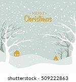 christmas background. snow... | Shutterstock .eps vector #509222863