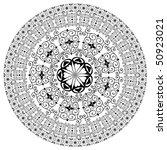 arabesque pattern round   Shutterstock .eps vector #50923021