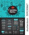 christmas restaurant brochure ... | Shutterstock .eps vector #509230867