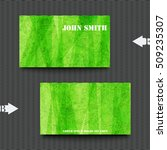 business card template with... | Shutterstock .eps vector #509235307
