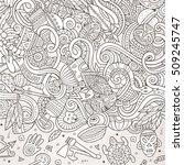 cartoon cute doodles hand drawn ... | Shutterstock .eps vector #509245747