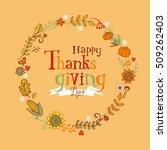 thanksgiving festive frame or...   Shutterstock .eps vector #509262403
