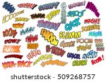 comic book sound effects... | Shutterstock .eps vector #509268757