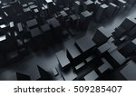 abstract dark blocks city with... | Shutterstock . vector #509285407