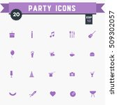 party icon set | Shutterstock .eps vector #509302057