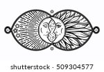 intricate hand drawn ornate... | Shutterstock .eps vector #509304577