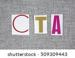 cta  call to action  acronym on ... | Shutterstock . vector #509309443