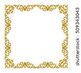 square gold frame. brilliant...   Shutterstock . vector #509343043