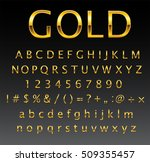 vector gold letters.set of... | Shutterstock .eps vector #509355457