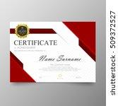 certificate template awards... | Shutterstock .eps vector #509372527