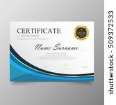 certificate template awards... | Shutterstock .eps vector #509372533