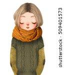 cute cartoon girl | Shutterstock . vector #509401573
