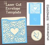 lasercut vector wedding... | Shutterstock .eps vector #509405953
