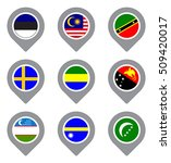 set of flag map point isolated... | Shutterstock .eps vector #509420017