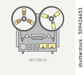 line flat vector icon with... | Shutterstock .eps vector #509426653