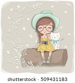 cute girl vector illustration | Shutterstock .eps vector #509431183