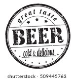 "rubber stamp with text ""beer ... 