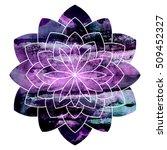 vector watercolor mandala...   Shutterstock .eps vector #509452327