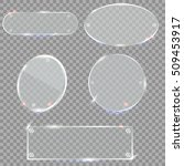 glass plates set. vector glass... | Shutterstock .eps vector #509453917
