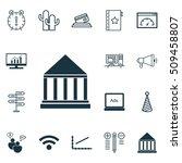 set of 16 universal editable... | Shutterstock .eps vector #509458807