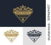 monogram design elements ... | Shutterstock .eps vector #509469457