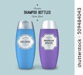 realistic shampoo bottles with... | Shutterstock .eps vector #509484043