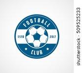 football club emblem blue flat... | Shutterstock .eps vector #509525233