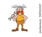 illustration of a viking... | Shutterstock . vector #509532337