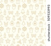 gold christmas seamless pattern ... | Shutterstock .eps vector #509533993