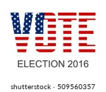 vote for election text with usa ... | Shutterstock .eps vector #509560357