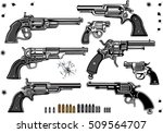 guns  revolver collection set... | Shutterstock .eps vector #509564707