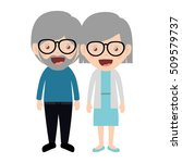 cartoon grandparents design | Shutterstock .eps vector #509579737