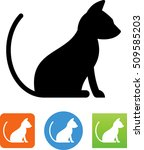 house cat icon | Shutterstock .eps vector #509585203