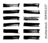 set of black ink vector stains. ...   Shutterstock .eps vector #509592157