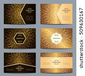 set vintage business card with... | Shutterstock .eps vector #509630167