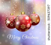 vintage christmas card with... | Shutterstock .eps vector #509637397