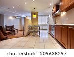 kitchen with appliances and a...   Shutterstock . vector #509638297