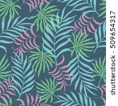 tropical background with palm... | Shutterstock .eps vector #509654317