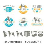 Set Of Pet Care Labels  Badges...