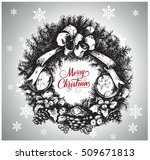vector hand drawn christmas... | Shutterstock .eps vector #509671813
