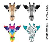 polygon animal pet giraffe zoo... | Shutterstock .eps vector #509675323