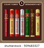 cigar tube designer's set.... | Shutterstock .eps vector #509683327